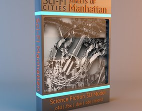 3D model Sci-Fi Manhattan Streets