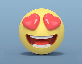 3D asset Love Smiley