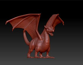 dragon imaginary creature statue 3D printable model