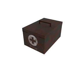 3D model rigged First aid kit