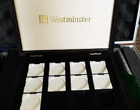 3D model westminster coin capsule tray holder