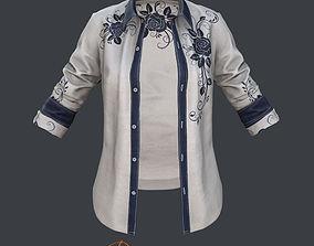 Female - Shirt - 4 3D model