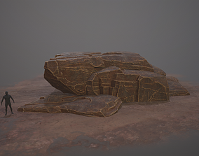 3D model Rock Desert Game Ready