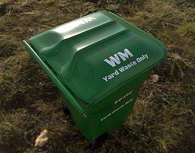 Yard Waste Bin 3D asset