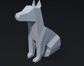 low poly dog 3D printable model