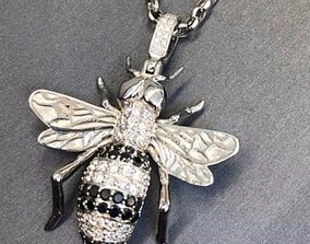 Bee diamond pendant 3D print model