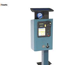 3D model game-ready Parking Meter