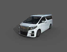3D asset Low Poly Car - Toyota Alphard 2015