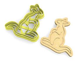 3D printable model Kangaroo Cookie Cutter