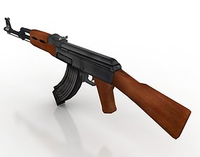 3D asset Ak47 GUN