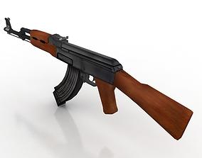 Ak47 GUN 3D model game-ready