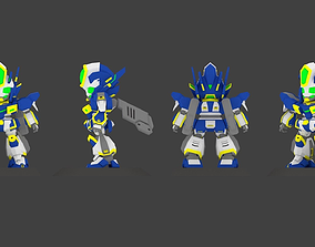 Super Mecha 12 - Wedzenger of Code Name 13TIK - 3D 1