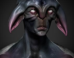 Alien Bust STL 3D printable model