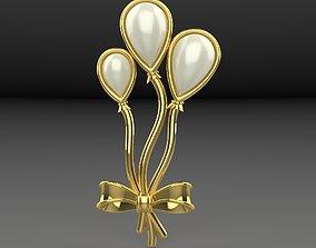 3D printable model Brooch Balloon precious