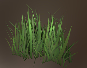 Game-ready Gras 3D model