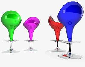 ware 3D asset Bar Stool