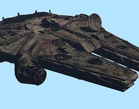 Millennium Falcon 3D asset