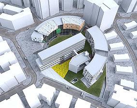 3D model Campus Buildings Set 02