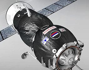 3D model Spaceship Progress Soyuz high detail spacecraft