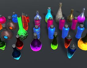 Ultimate Potions Pack 3D asset