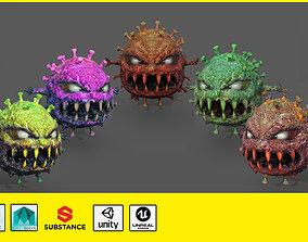 Covid monster 3D model