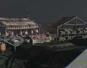 3D asset medieval market