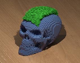 3D printable model Block Skull Planter
