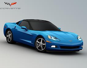 3D model realtime Chevrolet Corvette C6 Coupe