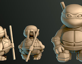 Little Turtle Warrior - Bo Staff 3D printable model