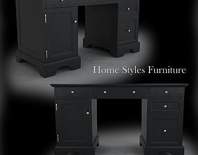 3D Bedford Black Pedestal Desk