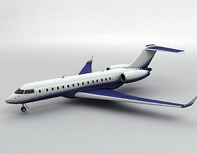 Bombardier Global Express 6000 Aircraft 3D model