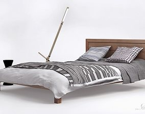3D modern bed ledger
