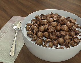 3D model Chocolate Cereals Bowl -