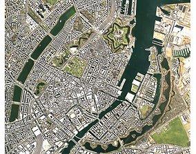 Cityscape Copenhagen Denmark 3D