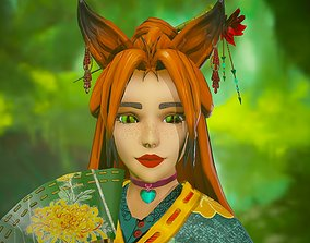 3D model Forest Kitsune - Game Ready Character