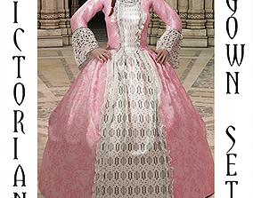 Victorian Gown Set 3D model