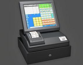 KTC - Electronic Cash Register - PBR Game Ready 3D asset