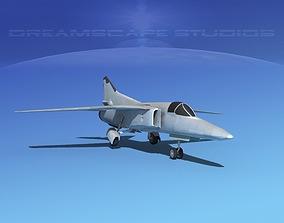 3D model Mig-27 Fighter LP Bare Metal