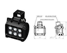 3D printable model LED BAR 18W 2x3 LEDs