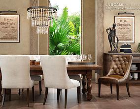 3D Rustic Dining Room 047