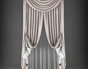 drape 3D model VR / AR ready Curtain