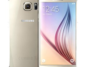 Samsung Galaxy S6 Gold Platinum 3D model