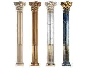 Classical round columns 3D model