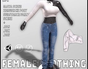 3D asset Female Clothing
