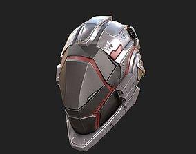 3D asset Scifi helmet ver 7