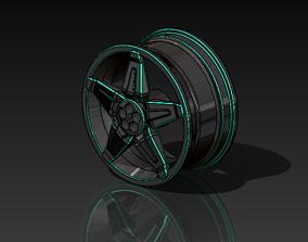 Rim 3D model automobile-lift