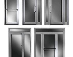 3D model Metal swing fire doors