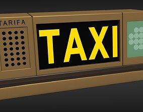 3D model Taxi Sign Light