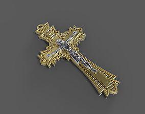Cross with jesus 3D print model