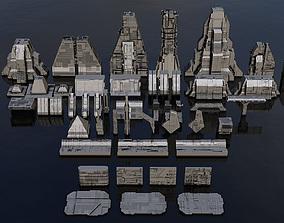 3D model Sci-Fi Architecture Kitbash Set